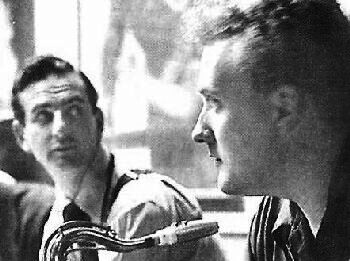 Early 1950s with Ronnie Scott (left)