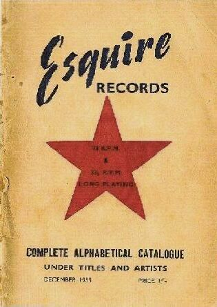 Front cover of Esquire 1953 record catalogue