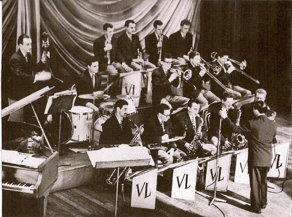 Vic Lewis Orchestra (1954) with Tubby Hayes in the front row...