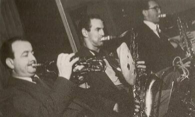Kenny Baker, Ronnie Scott, Vic Ash (1954)
